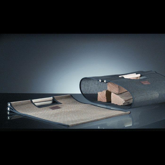 Wood log holder & bags